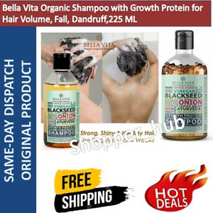 Bella Vita Organic Shampoo with Growth Protein for Hair Volume, Fall, 225 ML