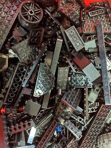 3-Pounds-LEGO-Bulk-Lot-Black-Bricks-Plates-Parts-Building-mix-pieces-lbs
