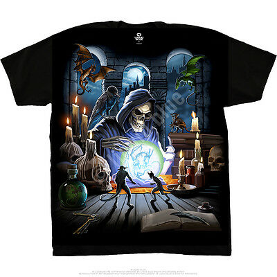 Liquid Blue REAPER SPELL T-Shirt, sizes M - 2XL dark fantasy, goth, rock, Horror