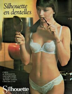 d957787dc6ffd Image is loading 1986-SILHOUETTE-Lingerie-Bra-amp-Panty-French-magazine-