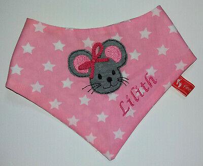 Baby-Halstuch Kinderhalstuch Sabberschutz Mäuse Baumwoll  f/&f Mädchentuch Sterne