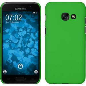 Custodia-Rigida-Samsung-Galaxy-A7-2017-gommata-verde-pellicola-protettiva