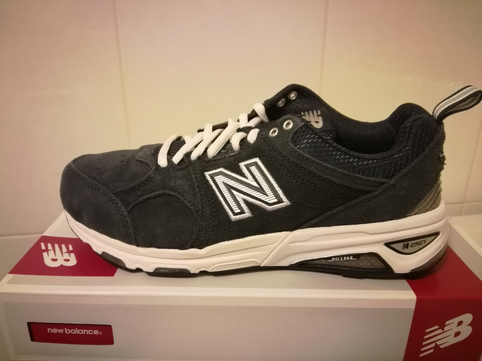 New New New  Damenschuhe New Balance 857 Cross Trainer Sneakers Schuhes - Wide Width - Navy 153927