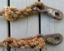 Vintage Miller Safety Rope Buckles Hooks Lineman Climbing