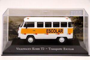 ALTAYA-1-43-IXO-Volkswagen-Kombi-T2-Con-Transporte-Escolar-Coche-Diecast-modelos-Toys