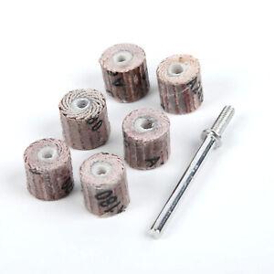 7-Grinding-Sandpaper-Sanding-Flap-Wheel-Disc-80-600-Grit-10mm-For-Rotary-Tool