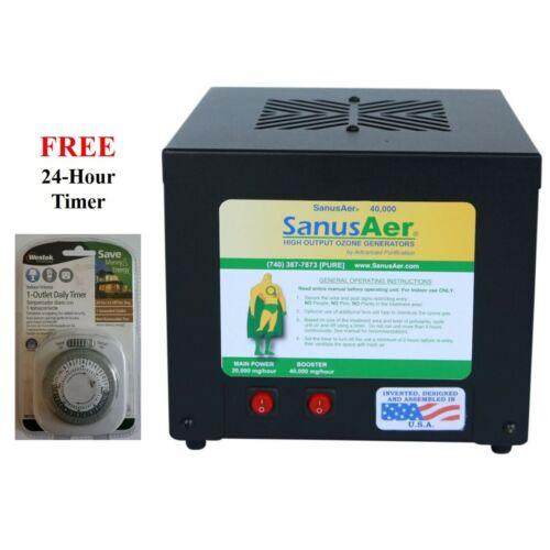Generador De Ozono Purificador De Aire Molde alergeno sanusaer 40000 olor a humo