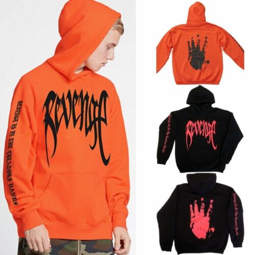 REVENGE /'KILL/' HOODIE XXXTentacion Bad Vibes Forever MENS Black w// Red Print