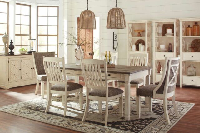 Ashley Furniture Bolanburg Farmhouse 7 Piece Dining Table Set D647