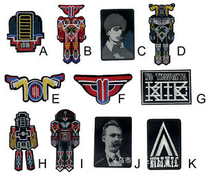 vintage-robot-aliens-soldier-Embroidered-Patch-iron-sew-on-transfer-badge-Fabric
