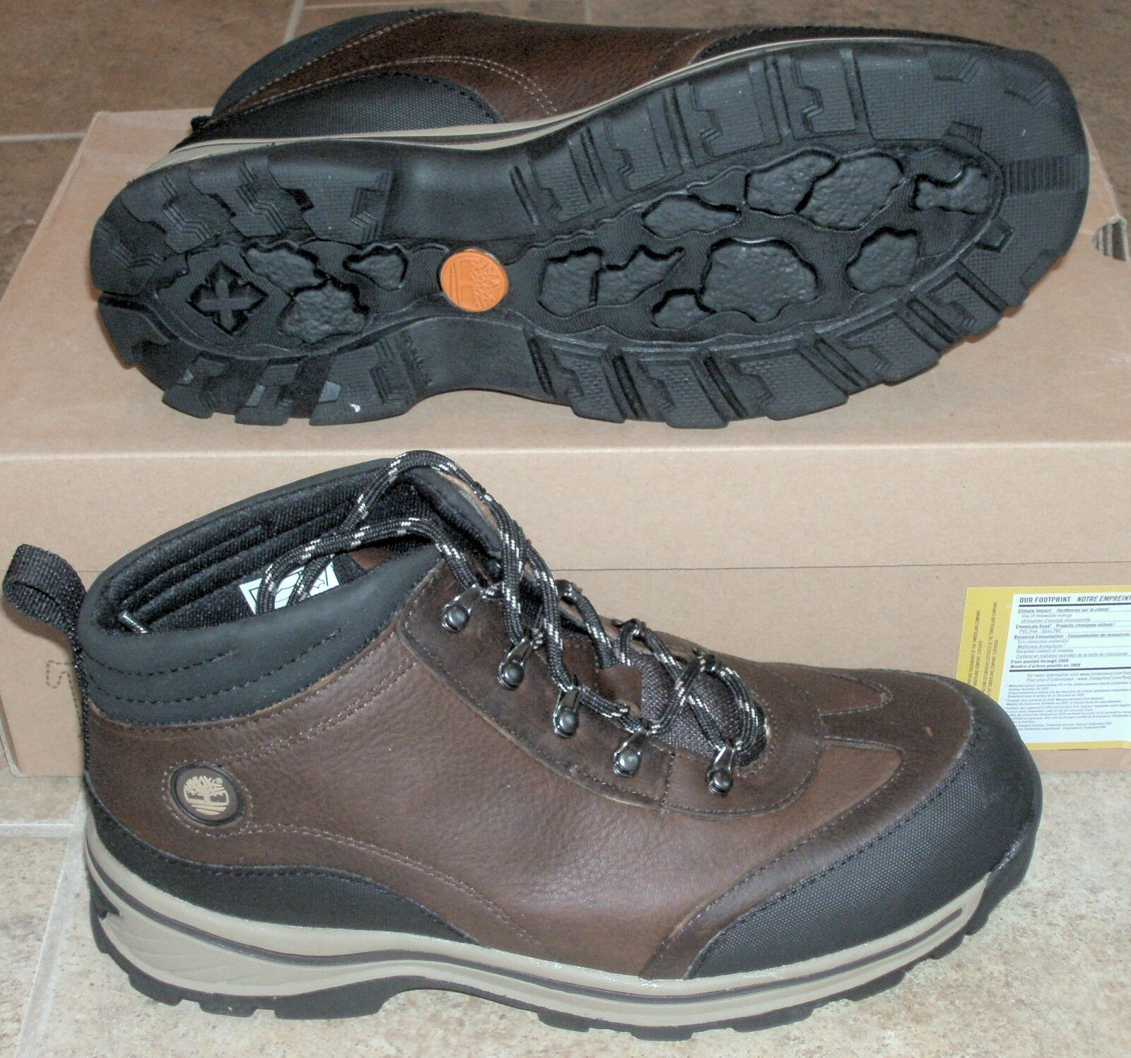 NEW TIMBERLAND BACK ROAD HIKER Brown Leather Womens 7.5 (6Y) NIB NR