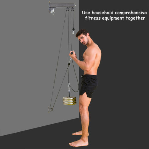 Lat Pull Down Wall Pulley Cable Machine Strength Workout Equipment Home Gym UK