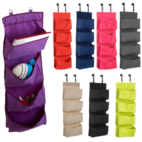 Over Door Hanging Organiser 4 Tier Fabric Shoe Rack Bedroom Storage Hanger Rail