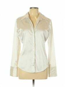 New-York-amp-Company-Women-Ivory-Long-Sleeve-Blouse-L