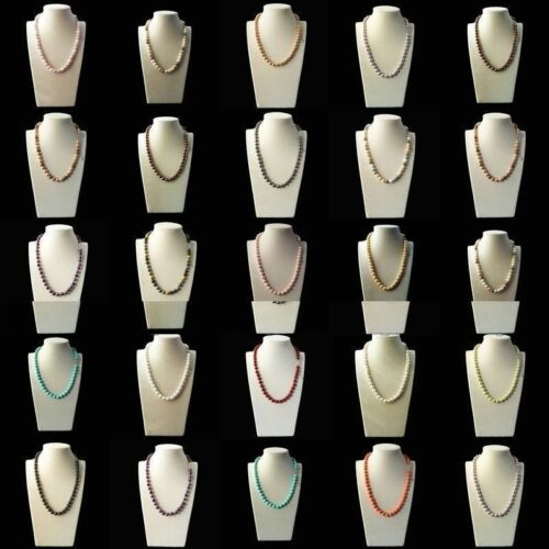 """Fashion 8 mm naturel Akoya Cultured Shell collier de perles 18/"""" AAA 10 Color"""