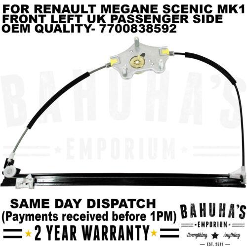 Lève vitre pour Renault Megane Scenic//SCENIC MK1 1996-2003 Avant Côté Gauche