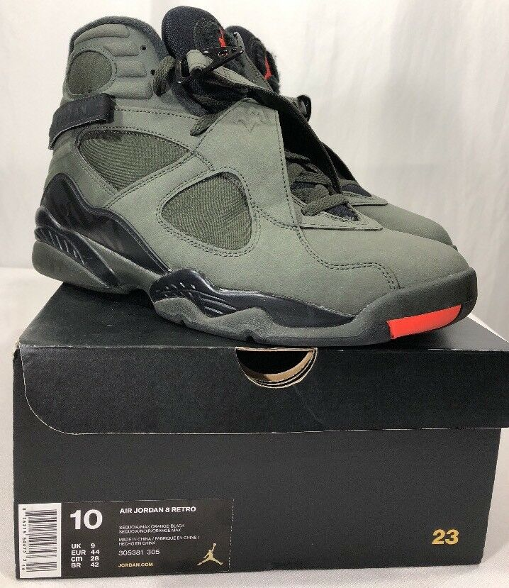 30f75b6ce59 Nike Air Jordan Retro 8 VIII Sequoia w Box Undefeated Aqua Bred Men's 10  nxkqpo8833-Athletic Shoes