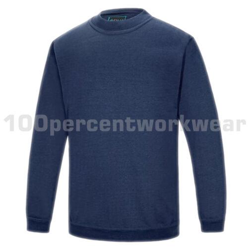 Aqua Premium Heavyweight en Polycoton Uni Sweat à encolure ras-du-cou Pull Work Wear