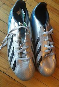 Adidas-F50-Adizero-TRX-FG-Soccer-Cleats-MET-Silver-Black-Joy-Blue-Size-5-US