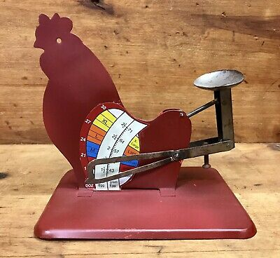 "/""Cyclone/"" Rustic Vintage Style Tin Poultry Egg Scale New"