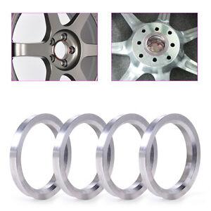 Neu-4x-Silber-73-1mm-auf-59-1mm-Zentrierring-Zentrierringe-Aluminium-Alu-Felgen