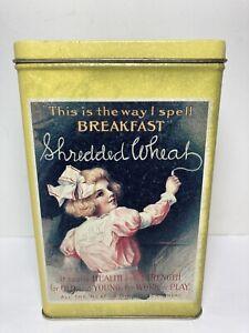 Yankee Candle Patchouli Candle Nabisco Shredded Wheat Tin -Unused