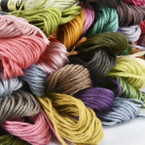 50pcs//lot Cross Stitch Cotton Embroidery Thread Yarn Floss Sewing Skeins Craft