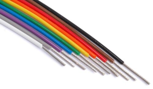 M22759//11-16 wire silver plated conductors 10 colors 25ft each 200°C