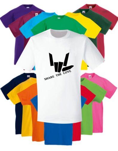 Enfants Garçons Filles partagent l/'amour youtuber Inspiré YouTube Enfants T-Shirt Noir
