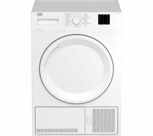 BEKO DTKCE80021W 8kg Condenser Freestanding Tumble Dryer White - Currys