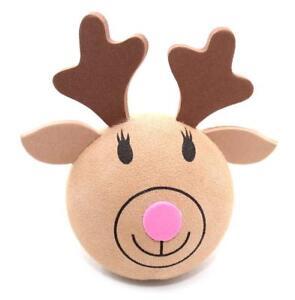 Animale-Natale-Renna-Rudolph-antenna-auto-Antenna-Topper-a-sfera