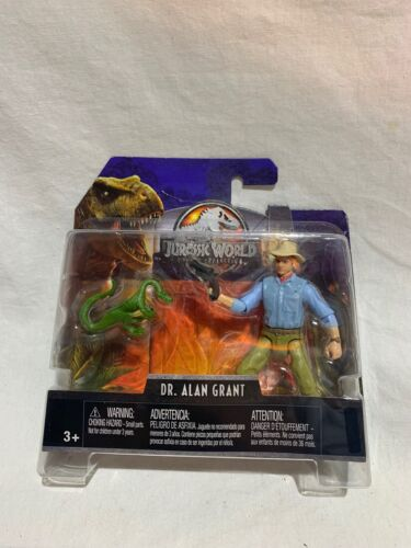 "FLN38 Jurassic World Legacy Collection 4/"" Dr Alan Grant /& /""Compy/"" Dinosaur"