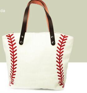 Girls-New-Fashion-Handbag-Softball-Baseball-Canvas-Cotton-Sports-Tote-Bags
