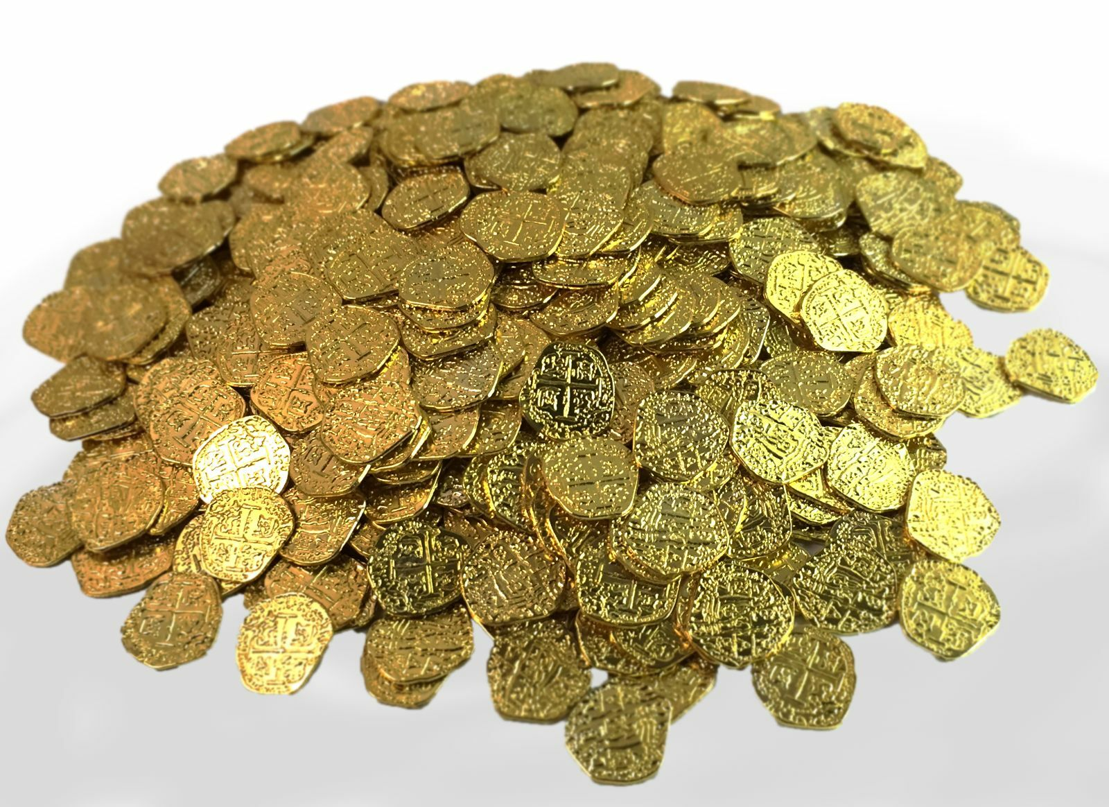 Pirate Treasure Coins - 500 Metal Gold ColGoldt Doubloon Props