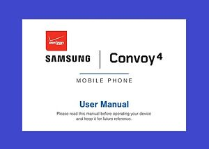 samsung convoy 4 user manual for verizon model sm b690v ebay rh ebay com samsung convoy 3 user manual verizon convoy 3 user manual