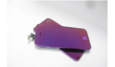 ( Mirror Purple )~ Full lcd display+touch screen+cover+key for iphone 4S
