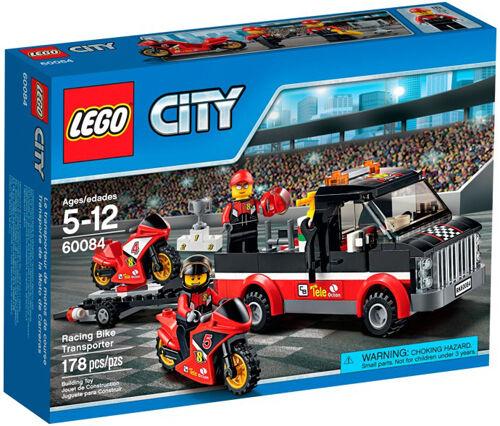 LEGO città 60084 città Great Vehicles Racing Bike Transporter  Set in scatola Sealed  tutto in alta qualità e prezzo basso