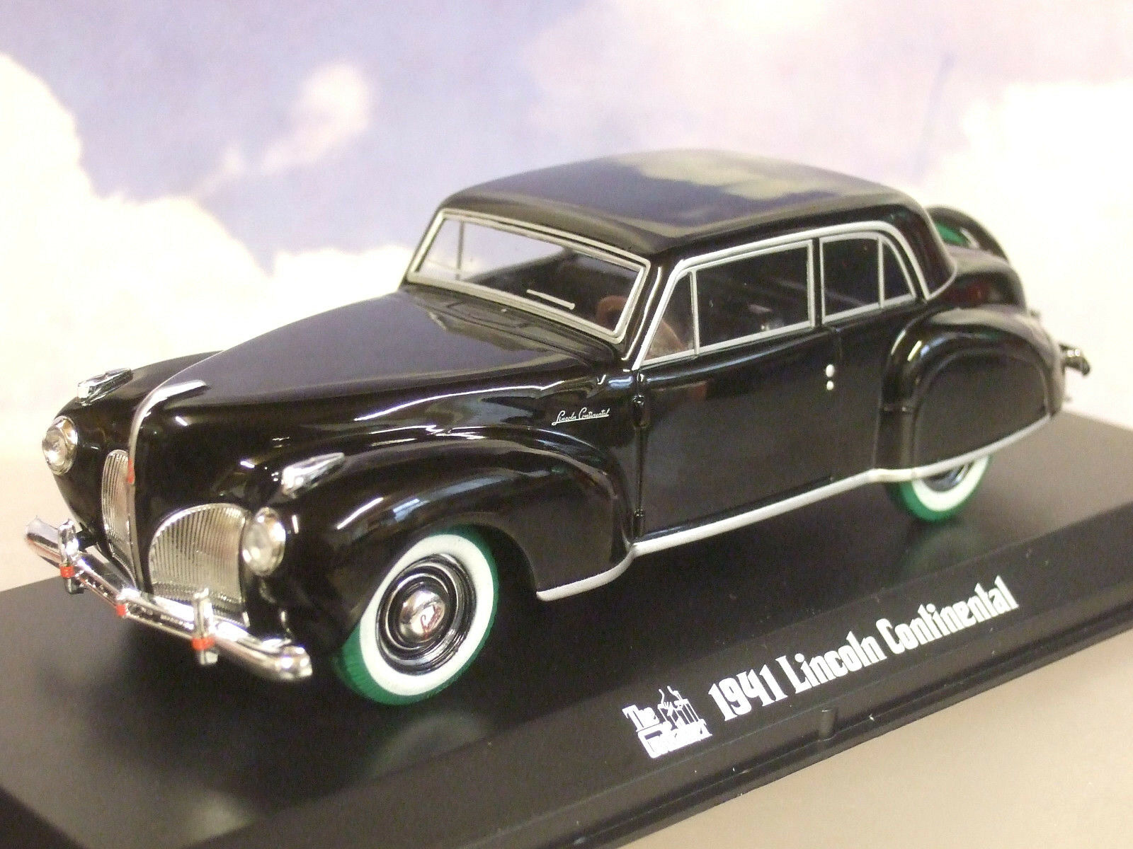GREENLIGHT 1 43 SONNYS 1941 LINCOLN CONTINENTAL GODFATHER RARE CHASE GREEN TYRES