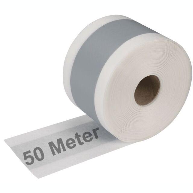 50 m Dichtband  für Bad Dusche Küche Balkone Abdichtband Eckband Feuchtraumdicht