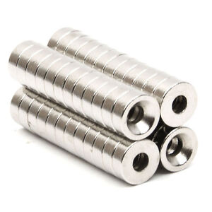 Strong-Countersunk-Ring-Neodymium-Magnets-N52-8-x-3mm-Hole-3mm-50pcs