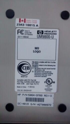 HP 56K EXTERNAL MODEM 5064-9789