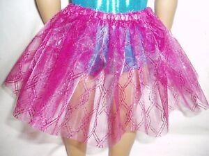 Sparkly-Fuchsia-Lattice-Basic-Tutu-18-034-Doll-Clothes-Fits-American-girl-dolls