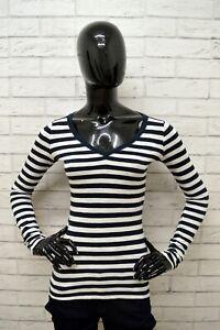 Maglia-HOLLISTER-Donna-Taglia-Size-XS-Shirt-Woman-Cotone-Manica-Lunga-a-Righe