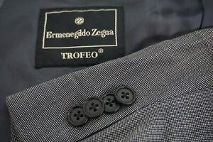 Ermenegildo-Zegna-Trofeo-Gray-Nailhead-100-Wool-2-Pc-suit-Jacket-Pants-Sz-44R