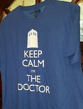 "New! DOCTOR WHO - ""KEEP CALM I'M THE DOCTOR"" - XL  - BLUE - T-SHIRT.    S2"