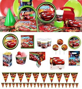 Image Is Loading NEW Disney Cars 3 Birthday Party Tableware Balloons