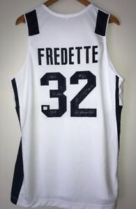 promo code 1b617 c34a2 Details about Jimmer Fredette Signed BYU Cougars Autograph College Stat  Jersey (Fredette COA)