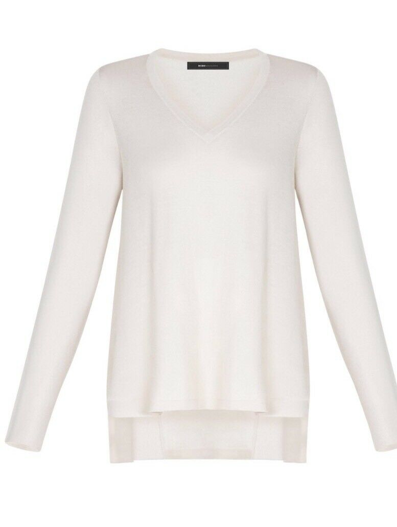 New  BCBG Max with Marianne Long-Sleeve High-Low B2907 Sweater Sz M
