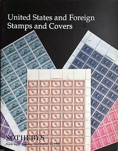 Sotheby-039-s-Catalogs-UNITED-STATES-AND-FOREIGN-STAMPS-amp-COVERS-1998