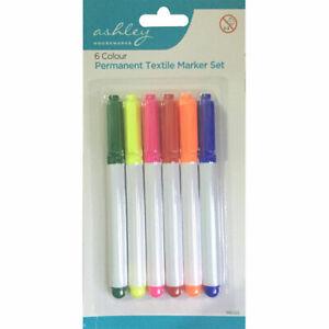 6-X-Penna-Lavanderia-tessuto-Tessile-Marcatore-permanente-Penne-Colore-School-Uniform